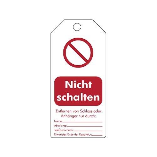 "Herschrijfbare veiligheidstags Duits ""Nicht schalten""  307666"