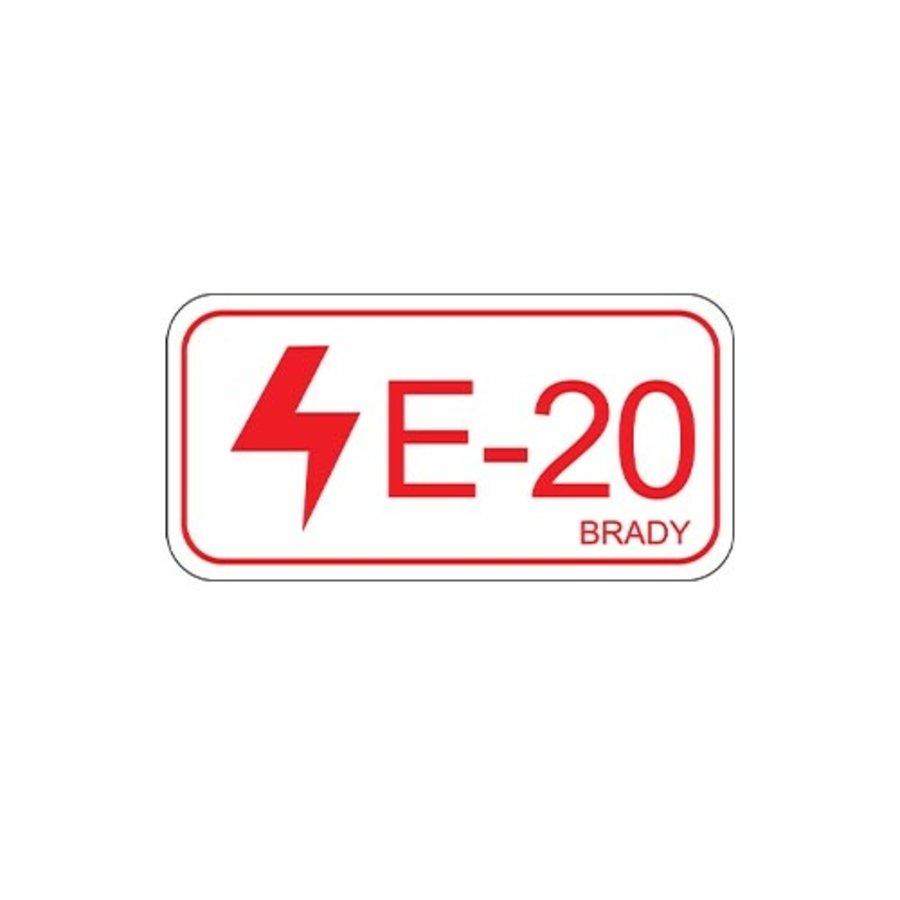 Isolatiepunt label Elektrisch - gelamineerd polyester