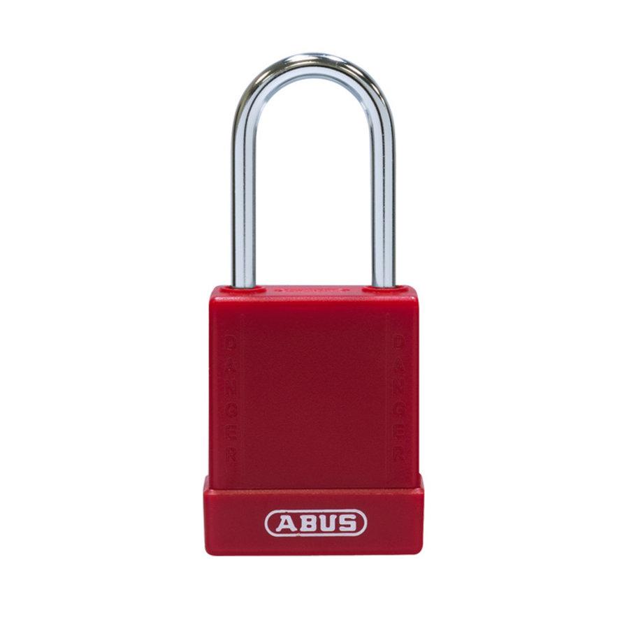 Aluminium Sicherheits-vorhängeschloss mit rote Abdeckung 84781