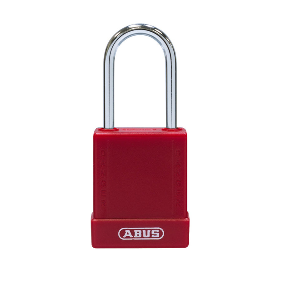Aluminium veiligheidshangslot met rode cover 84781
