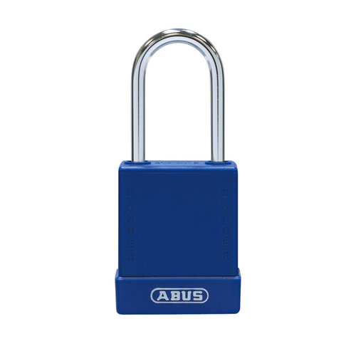 Aluminium veiligheidshangslot met blauw cover 76BS/40 blauw