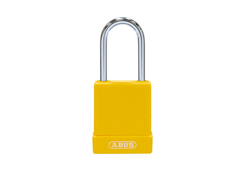 Aluminum safety padlock with yellow cover 76BS/40 yellow