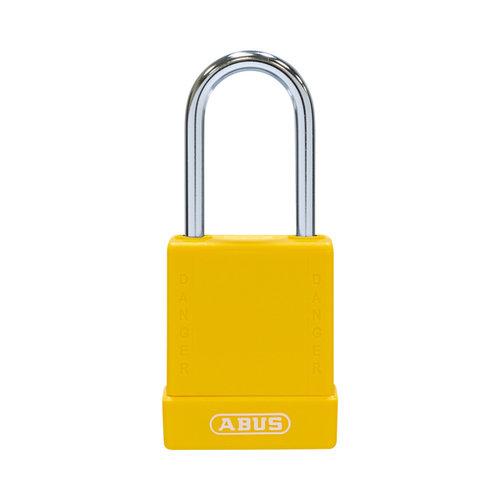 Aluminium veiligheidshangslot met gele cover 76BS/40 geel