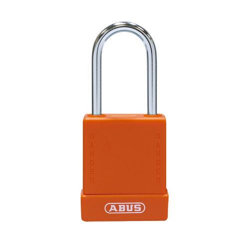Aluminium veiligheidshangslot met oranje cover 76BS/40 oranje