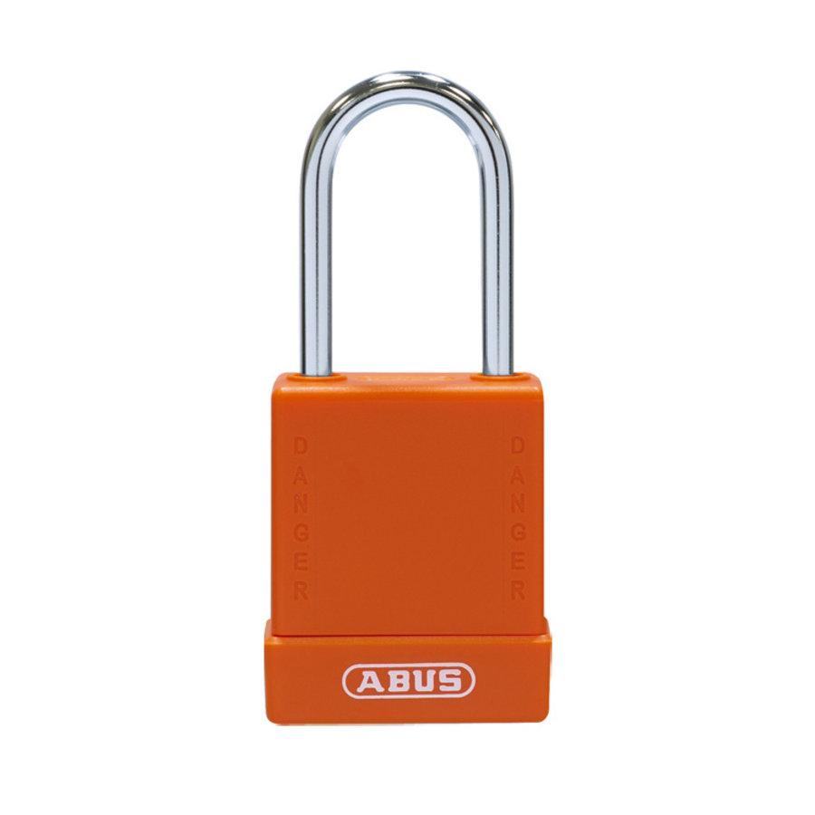 Aluminum safety padlock with orange cover 84785