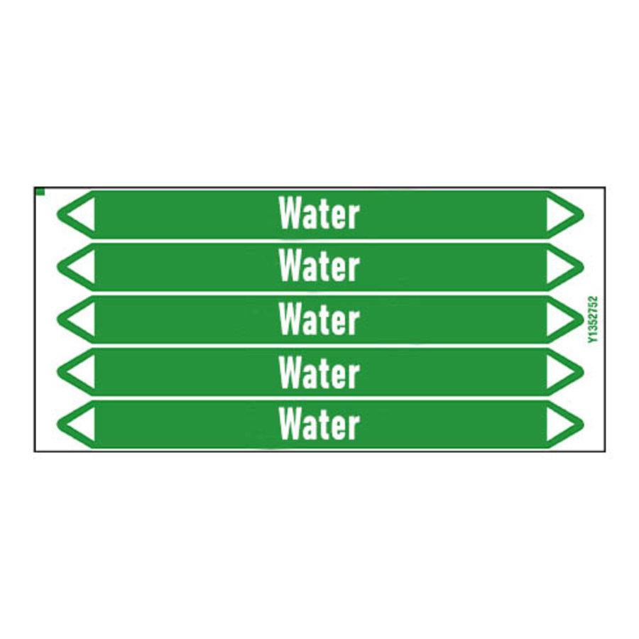 Rohrmarkierer: Chilled water | Englisch | Wasser
