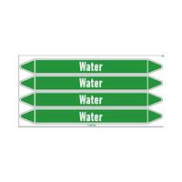 Rohrmarkierer: Cold water | Englisch | Wasser