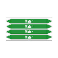 Pipe markers: Demineralised hot water   English   Water