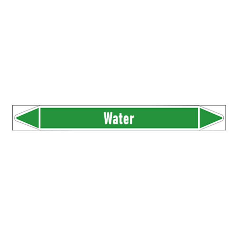 Pipe markers: Water | English | Water