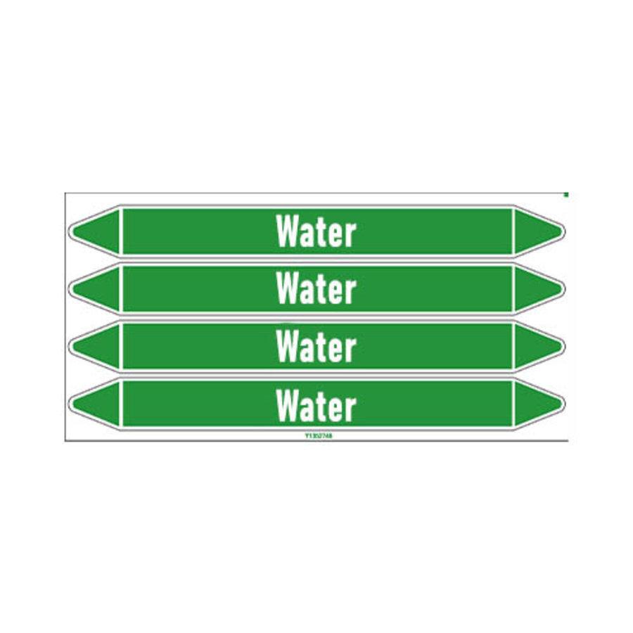 Leidingmerkers: Heating hot water | Engels | Water
