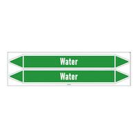Leidingmerkers: Heating water | Engels | Water