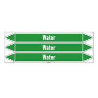 Pipe markers: Heating water | English | Water