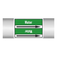 Leidingmerkers: Hot water 45°C | Engels | Water
