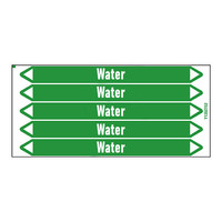 Pipe markers: Hot water 70°C | English | Water