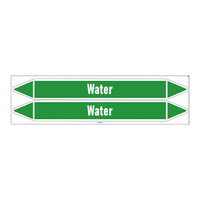Pipe markers: Hot water 90°C | English | Water