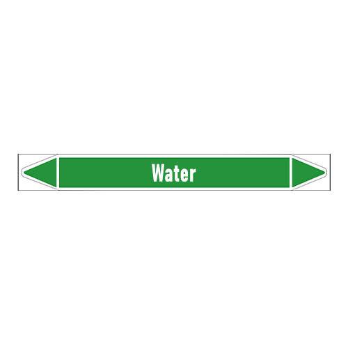 Rohrmarkierer: Valve water | Englisch | Wasser