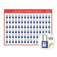 Lockout schaduwbord incl. Master Lock 410  hangsloten