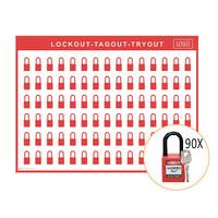 Lockout shadow board incl. Brady Nylon  Safety padlocks