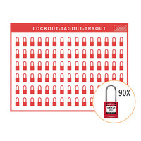 Lockout shadow board incl. Abus  74BS/40  Safety padlocks