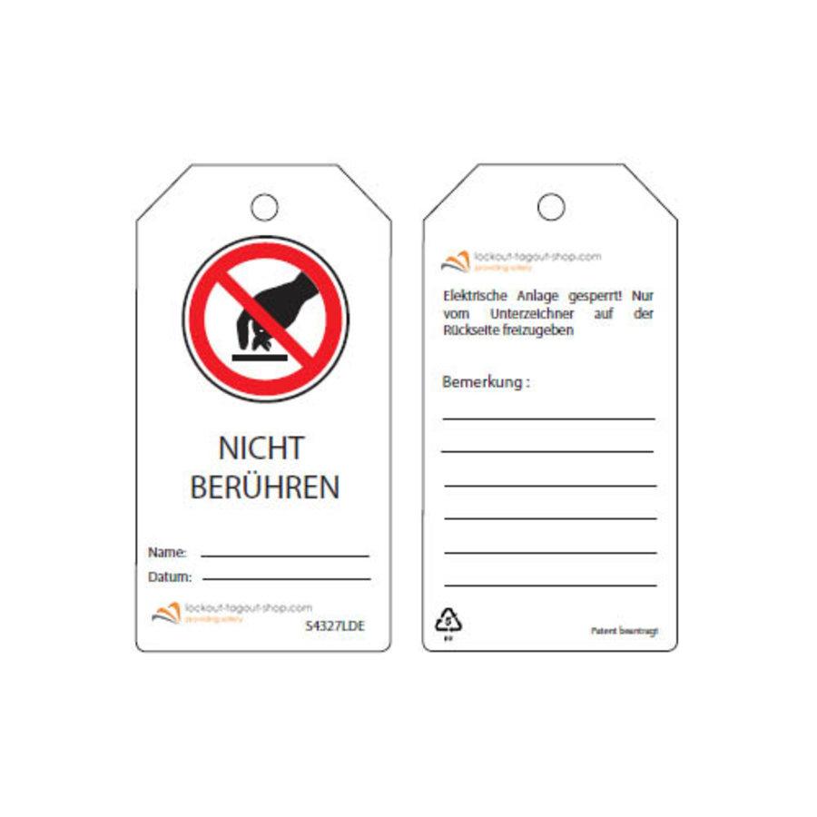 Herschrijfbare veiligheidstags Duits Guardian Extreme (10 stuks)