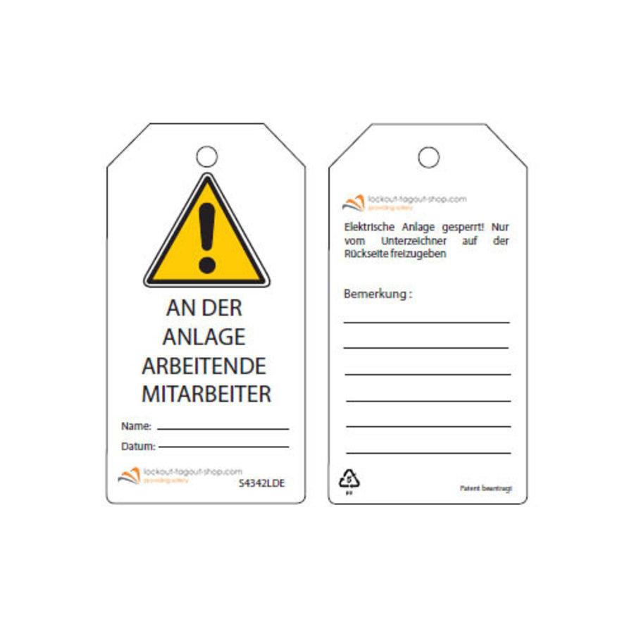 Wiederbeschreibbare  Sicherheitsanhänger Deutsch Guardian Extreme (10 Stück)
