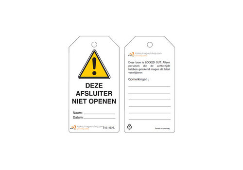 Rewritable Safety tags Dutch Guardian Extreme