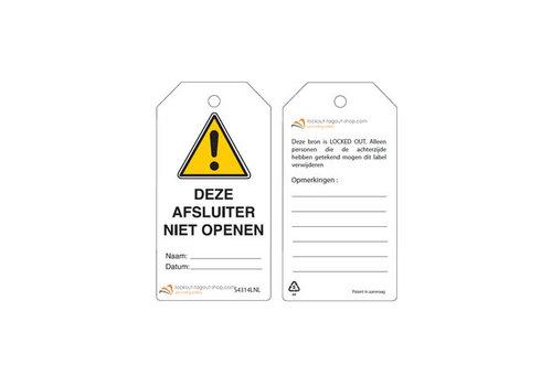 Wiederbeschreibbare Sicherheitsanhänger Niederländisch Guardian Extreme
