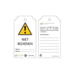 Master Lock Herschrijfbare veiligheidstags Nederlands Guardian Extreme (10 stuks)