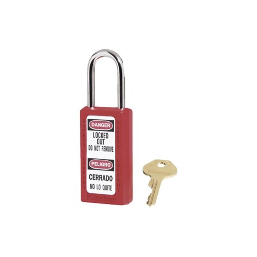 Zenex veiligheidshangslot rood 411RED - 411KARED