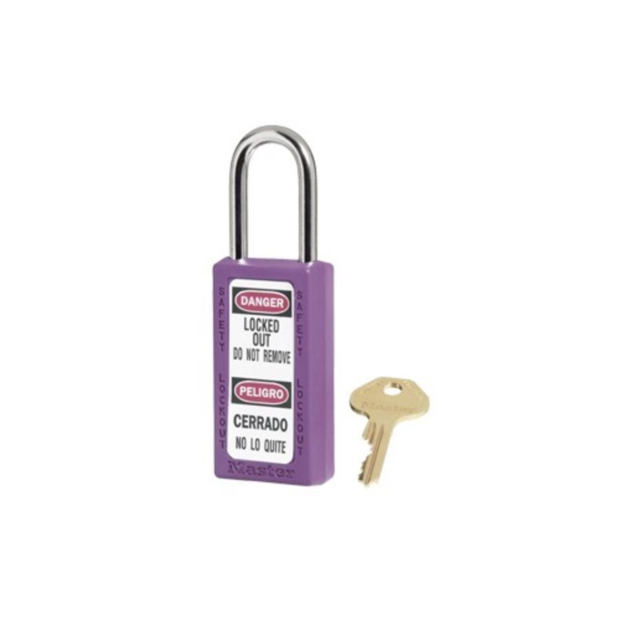 Zenex safety padlock purple 411PRP - 411KAPRP