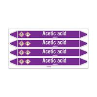 Leidingmerkers: Acetic acid | Engels | Zuren en basen