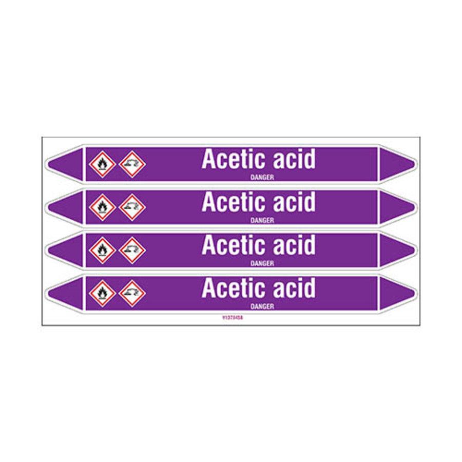 Rohrmarkierer: Acetic acid | Englisch | Säuren und Laugen