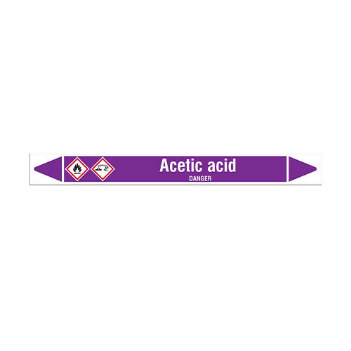 Pipe markers: Acetic acid | English | Acids and Alkalis