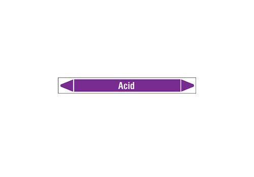 Rohrmarkierer: Acid | Englisch | Säuren und Laugen