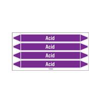 Leidingmerkers: Acid | Engels | Zuren en basen