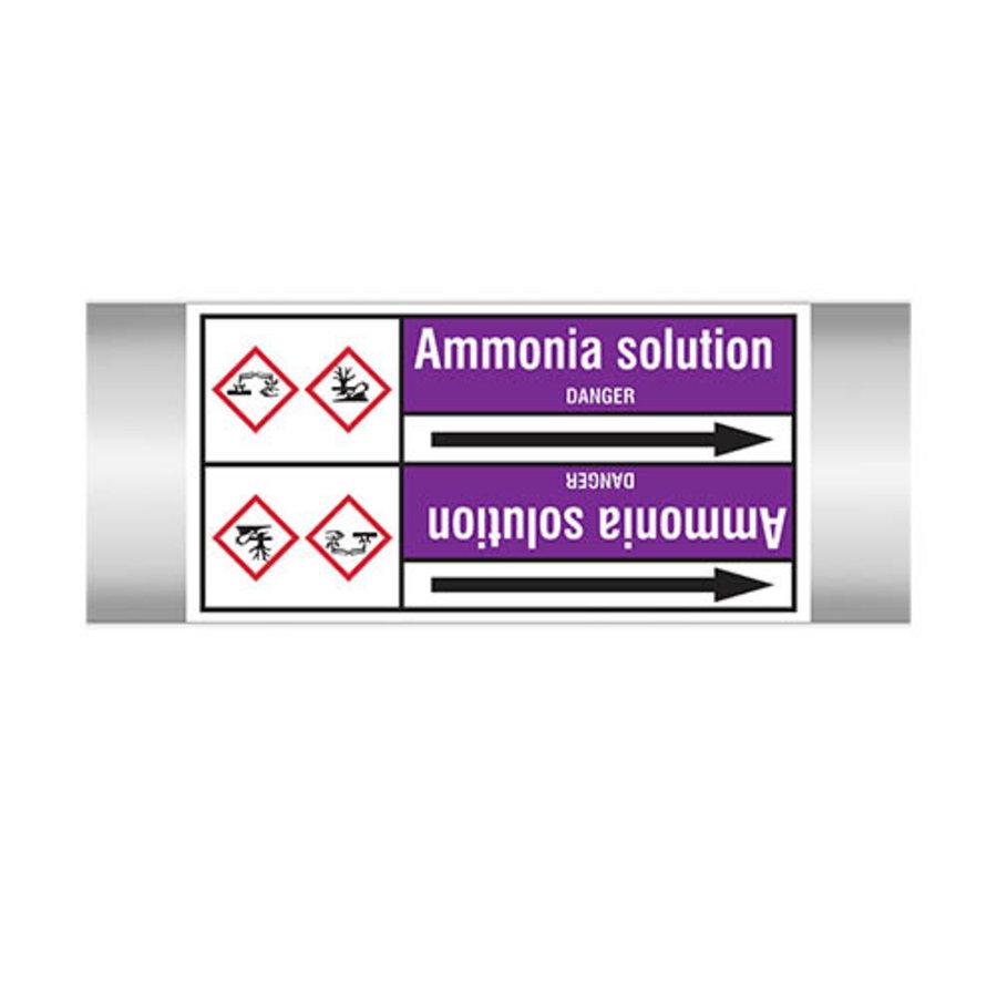 Rohrmarkierer: Ammonia solution | Englisch | Säuren und Laugen