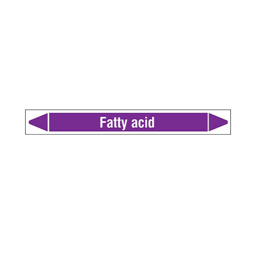 Pipe markers: Fatty acid | English | Acids and Alkalis