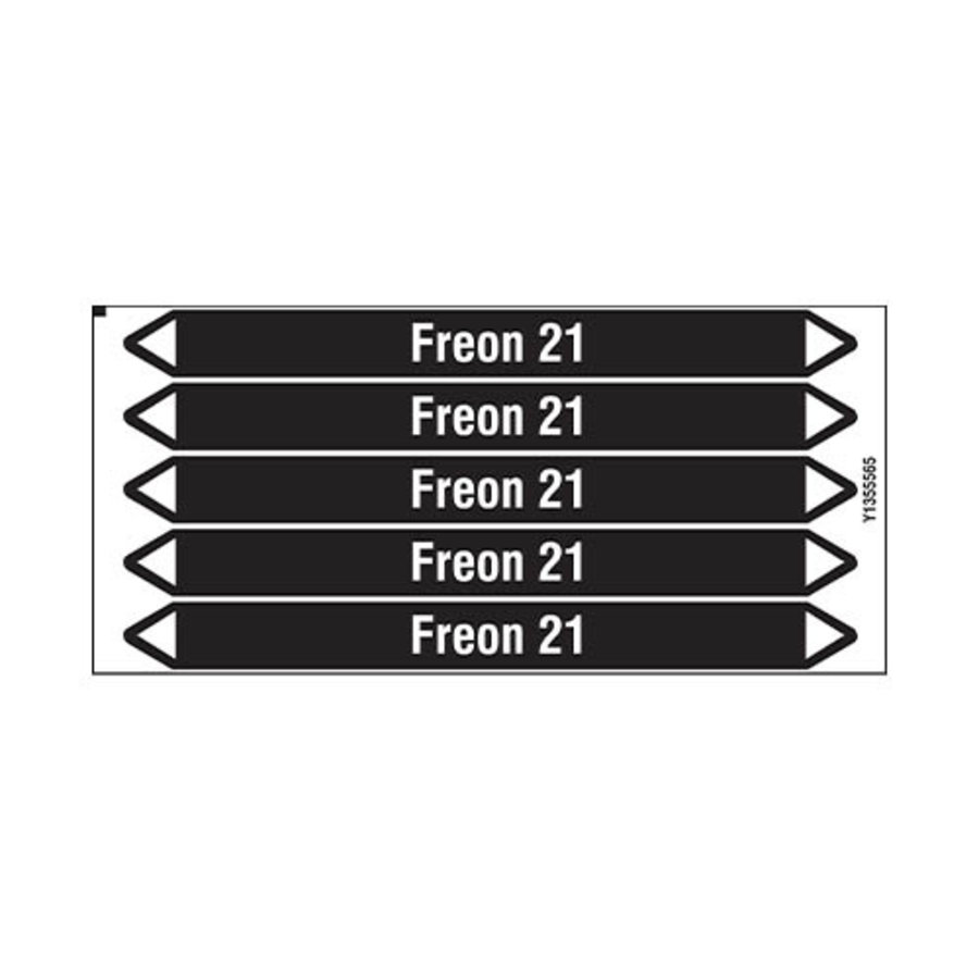 Leidingmerkers: Freon 21 | Nederlands | Niet ontvlambare vloeistoffen