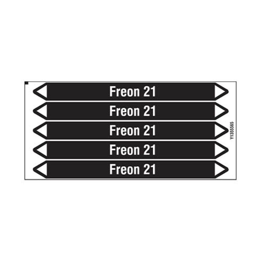Rohrmarkierer: Freon 21 | Niederländisch | Nicht Brennbare Flüssigkeiten
