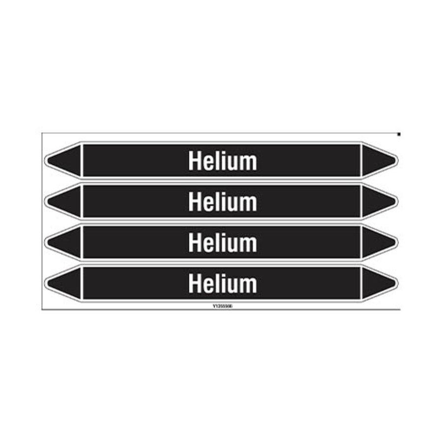 Leidingmerkers: Helium | Nederlands | Niet ontvlambare vloeistoffen