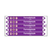 Rohrmarkierer: Formaldehyde | Englisch | Säuren und Laugen