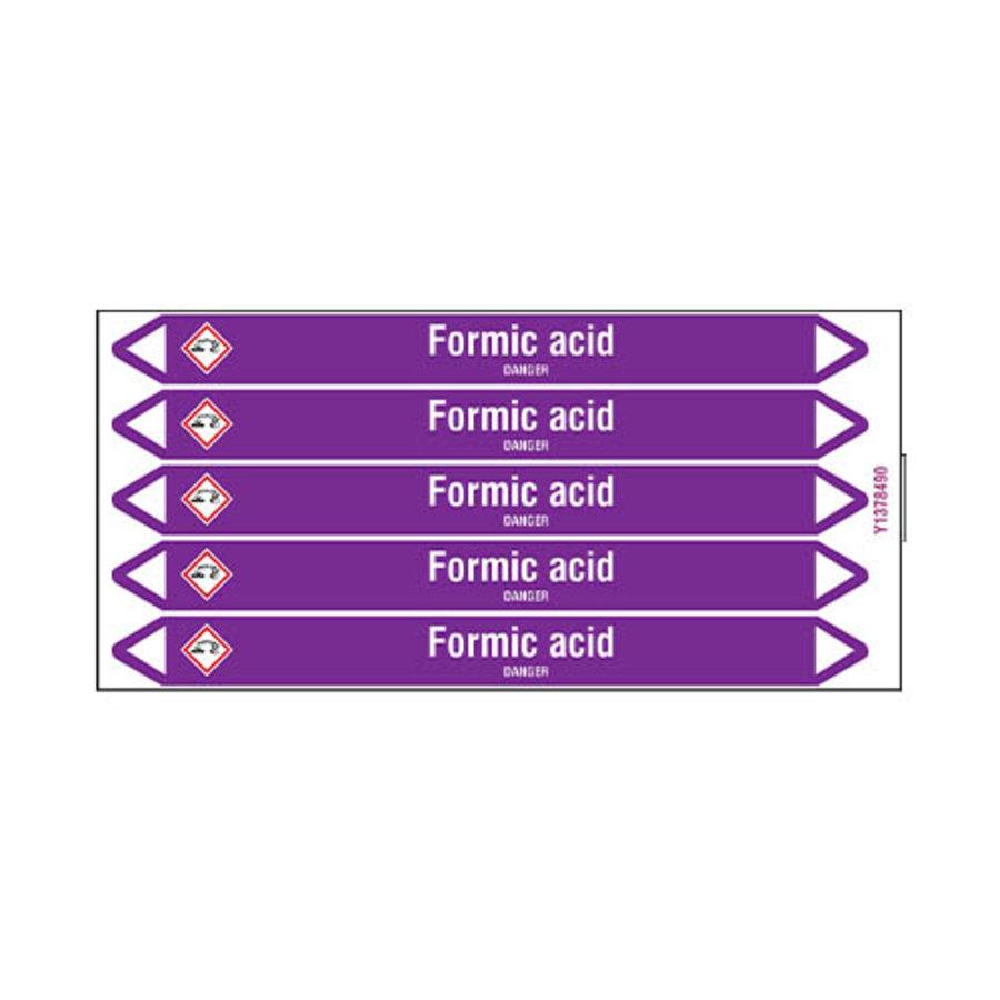 Rohrmarkierer: Formic acid | Englisch | Säuren und Lauge