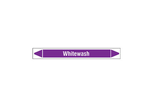 Pipe markers: Whitewash | English | Acids and Alkalis