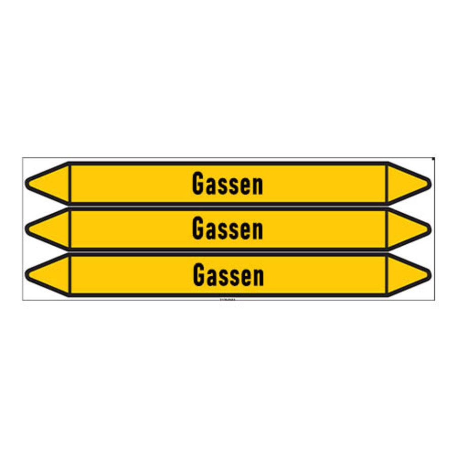 Leidingmerkers: Acetyleen | Nederlands | Gassen