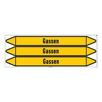 Leidingmerkers: Argon | Nederlands | Gassen