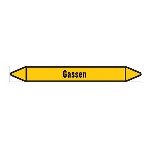 Pipe markers: Dimethylamine | Dutch | Gas