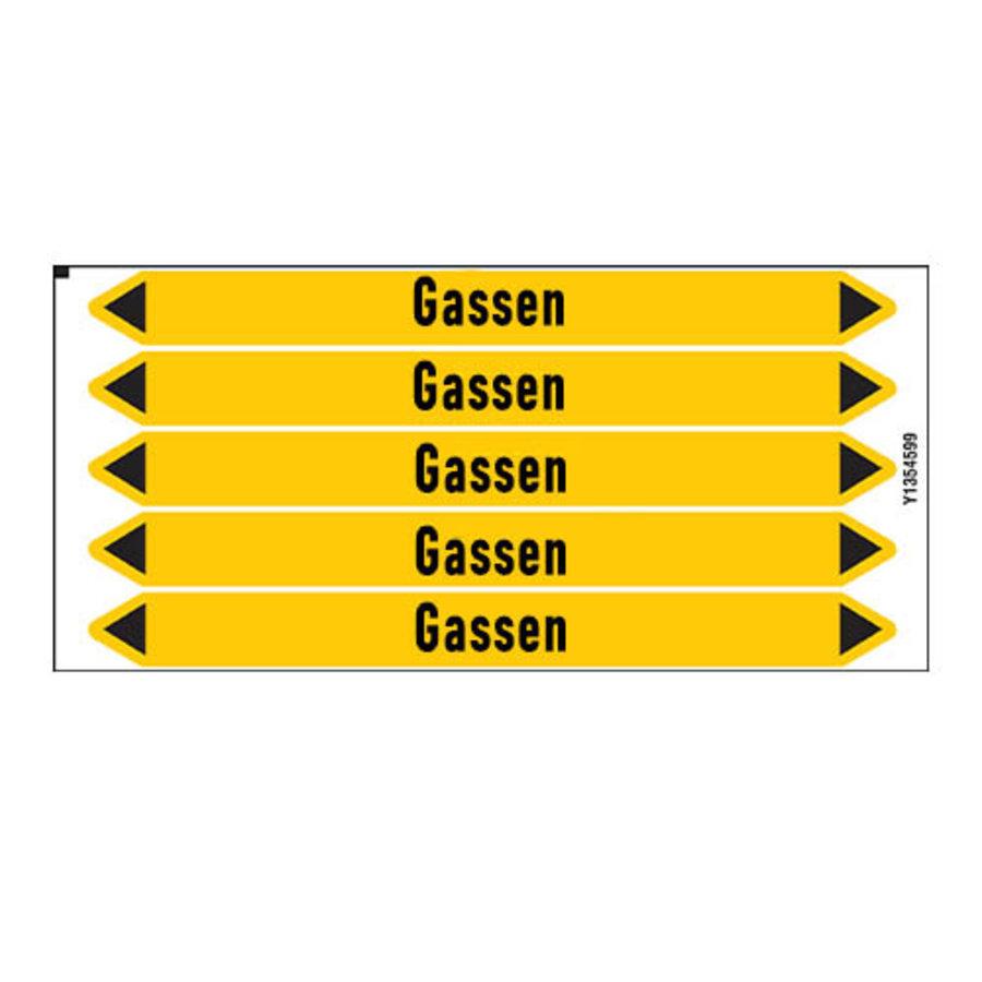 Leidingmerkers: Droog stikstofgas | Nederlands | Gassen