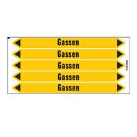 Leidingmerkers: Gas | Nederlands | Gassen