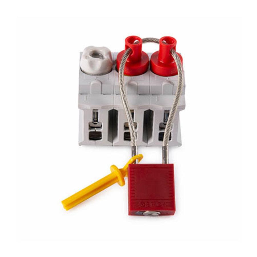 Isolatiepluggen met hangslotgat  voor schroefzekeringen