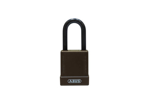 Aluminium veiligheidshangslot met bruine cover 76/40 bruin